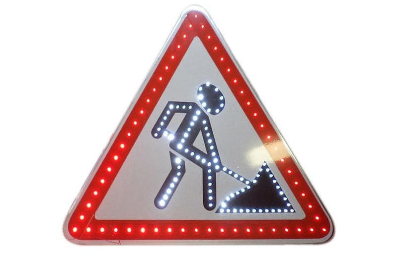 Дорожные знаки на время ремонтных работ