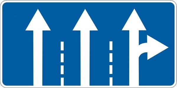 Предписывающий знак поворот налево