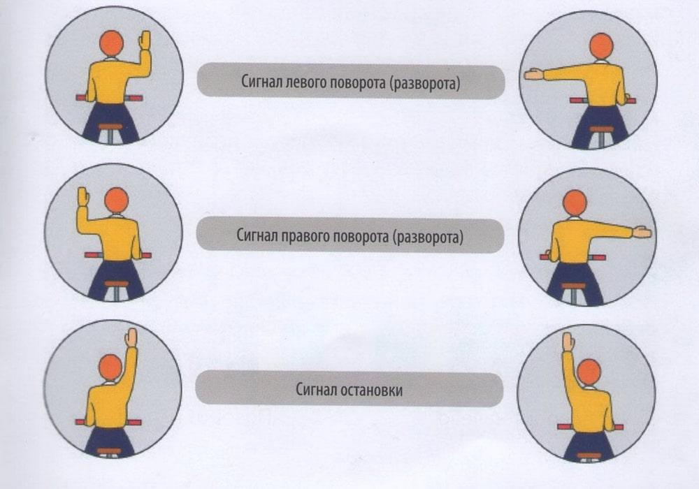 ястребиного сигналы водителя подаваемые рукой картинки работе без ошибок